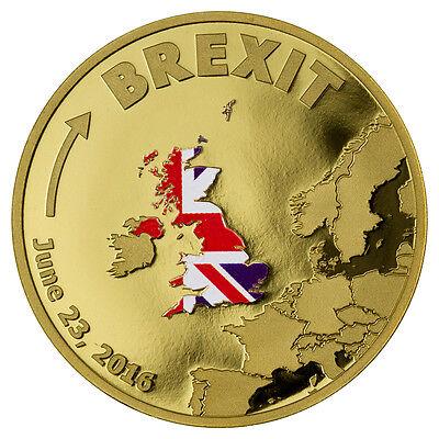 2016 Cook Islands  20 1 10 Oz  9999 Fine Proof Gold Brexit Coin Sku41689