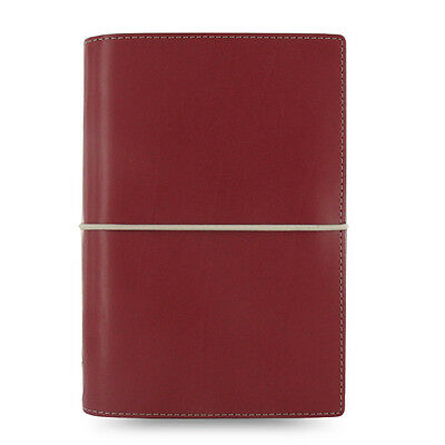 Filofax Personal Domino Organiser Diary Notebook Dark Red Leather - 027810 Gift