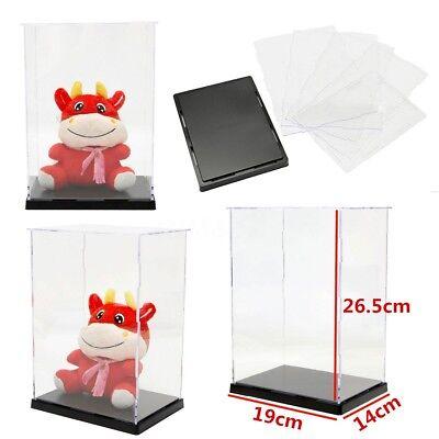 Clear Acrylic Display Case Transparent Plexiglass Dustproof Box 7.5 X 5.5 X10
