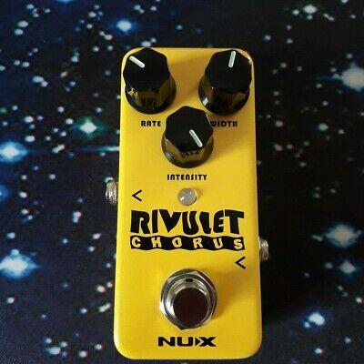 NUX Mini Core NCH-2 RIVULET Chorus Guitar Effect Pedal Buffered w/ True Bypass