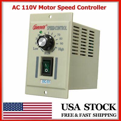 Adjustable 13 Phase Ac 110v 400w Knob Motor Speed Controller Dc-51 Dc 0-90v