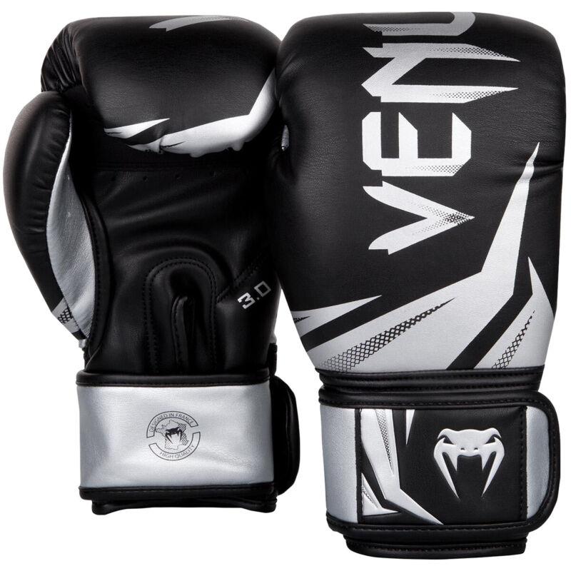 Venum Challenger 3.0 Training Boxing Gloves - Black/Silver