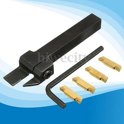 4pcs Mgmn300 Cut-off Inserts With Mgehr1212-3 Lathe Grooving Turning Tool Holder
