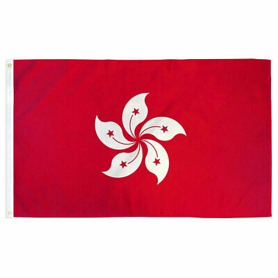 Hong Kong Flag Asia 3×5 Polyester Indoor Outdoor HK Flag Fade Resistant Banner Décor
