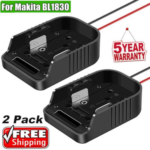 2Pack For Makita 18V Li-ion Battery Adapter to Dock Power 12 Gauge Robotics DIY