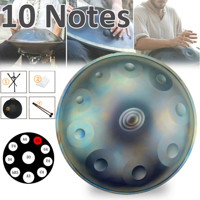 10 Notes Hand Pan Handpan Hand Drum Alloy Steel Percussion Musical Instrument
