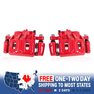 Front Red Brake Calipers For Chevy Impala SS Camaro Deville Lesabre Firebird