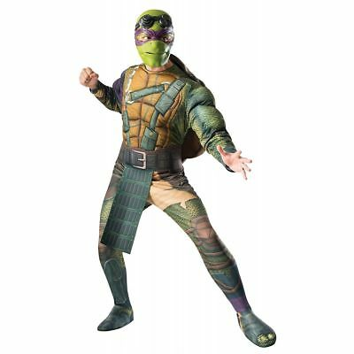 Donatello Men's Adult Mutant Ninja Turtles Deluxe Muscle Halloween Costume, XL