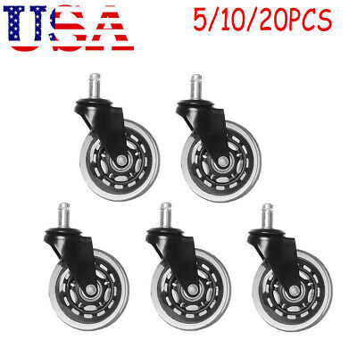 520-pack Roller Office Desk Chair Twin-wheel Casters 3 Stem Replacement Wheels
