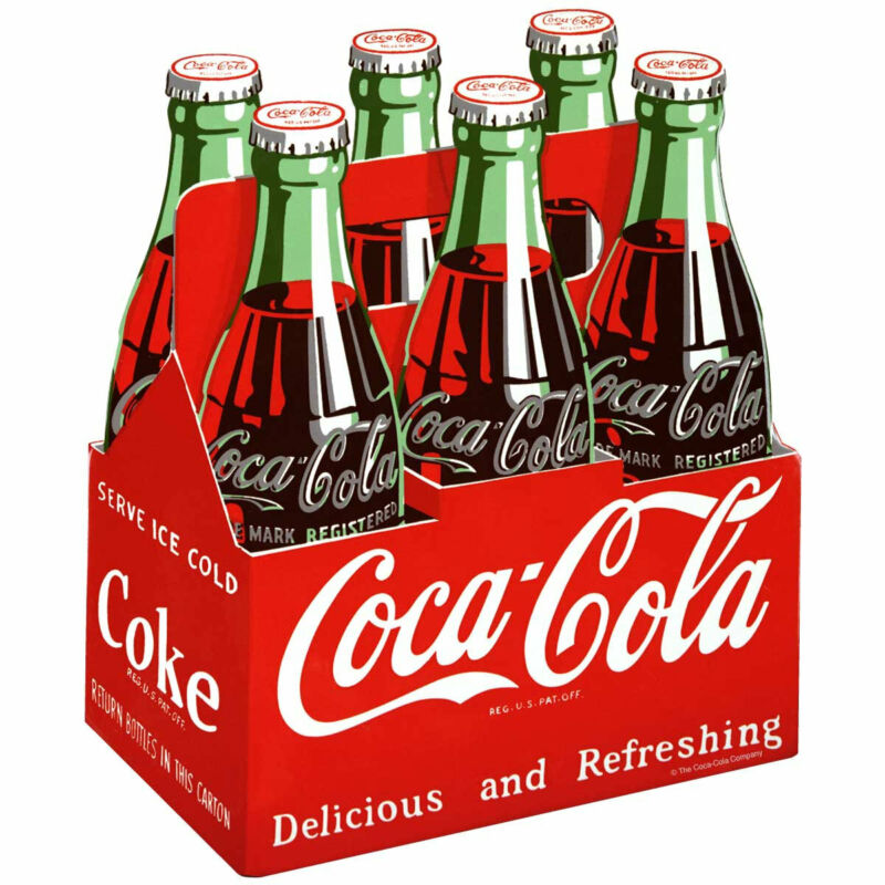 Coca-Cola Red Six Pack Decal Peel & Stick Wall Graphic