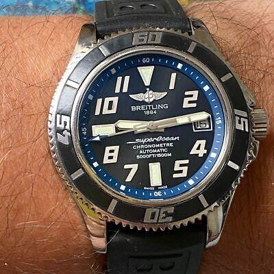 BREITLING SUPEROCEAN 1500M 42MM ABYSS REF. A17364 WATCH 100% GENUINE BLACK BLUE