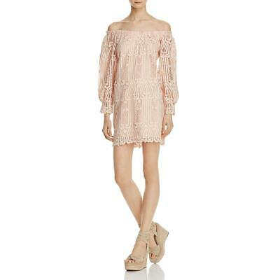 Ministry of Style Womens Pink Lace Sheath Party Cocktail Dress 8 BHFO 8805