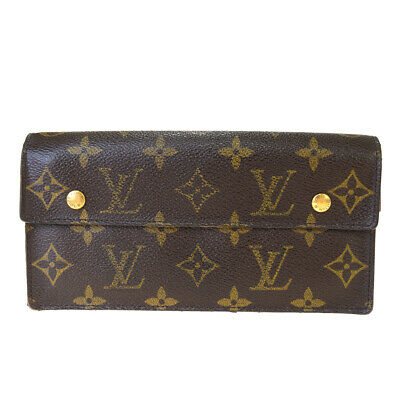 Auth LOUIS VUITTON Accordeon Long Bifold Wallet Purse Monogram BN M58008 09BK997