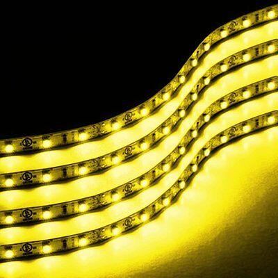 Zone Tech 4x  Amber 30cm 15 LED Car Flexible Waterproof Light LED Strips