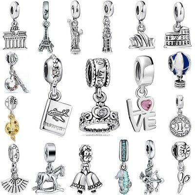 - European Famous Building Charms Pendant New Jewelry For 925 Silver Bead Bracelet