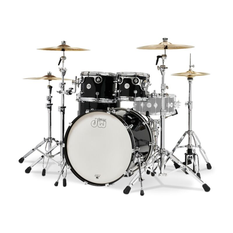 DW Limited Edition Design Series 4-Piece Drum Kit  - Gloss Piano Black