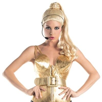Madonna Blonde Ponytail Wig Costume Concert Blond Ambition Tour Express - Madonna Ponytail Wig
