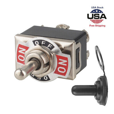 Heavy Duty 20a 125v Toggle Switch Control Dpdt Double Throw 6 Term Onoff Cap