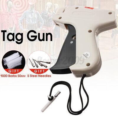 Clothing Regular Garment Price Tag Gun Machine With 1000 Barbs Label 5 Needles