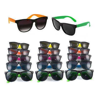 36PK BULK Colorful Neon Assorted Kids Sunglasses 80s Theme Pool Party Favors (80s Party Themes)