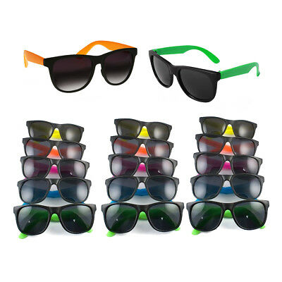 Sunglasses Favors Bulk (36PK BULK Colorful Neon Assorted Kids Sunglasses 80s Theme Pool Party)