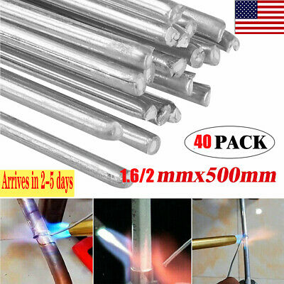 40pcs 1.62.0mm Easy Aluminum Solder Melt Welding Flux Cored Rods Wire Brazingus