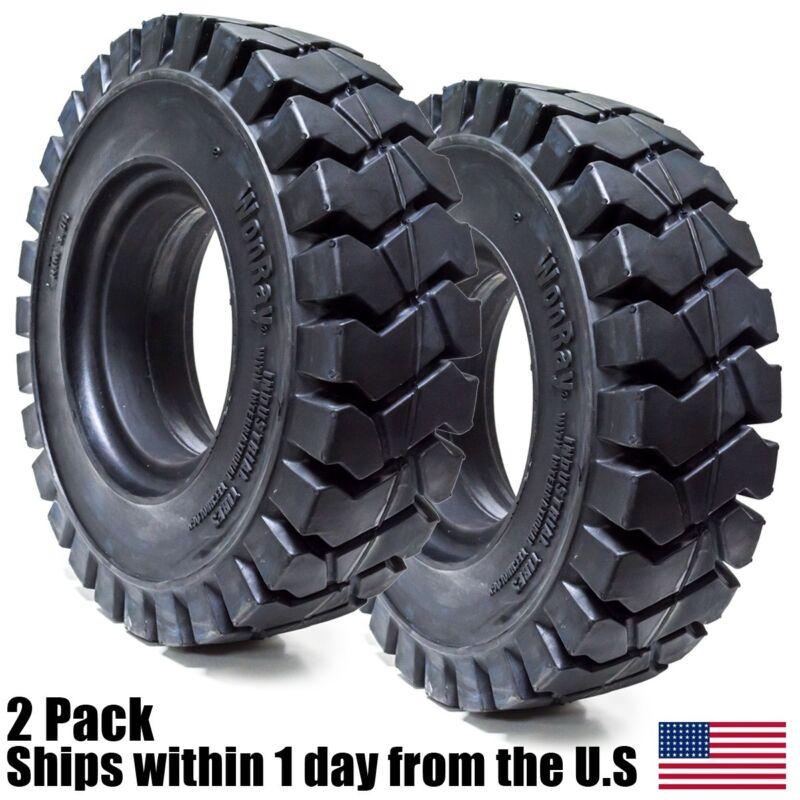2PK 18x7-8 18x7x8 Solid Forklift Flat Proof Tire 18/7/8 1878