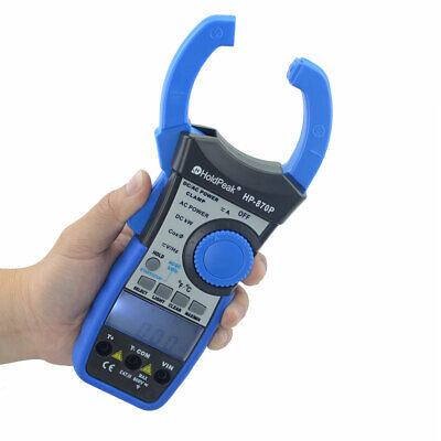 Digital Clamp Meter Dc Current True Rms 9999 Counts Power Clamp Handheld 1000a