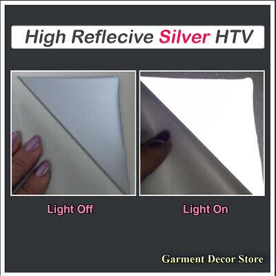 Silver High Reflective Heat Transfer Cutting Vinyl 20 X 1yard Iron-on Film Htv