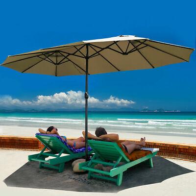 15' Market Outdoor Umbrella Double-Sided Twin Patio Umbrella