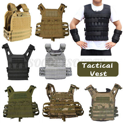Tactical Workout Adjustable Weighted Vest Exercise Weight Sp