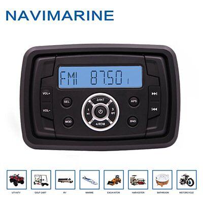 Marine Radio Waterproof AM FM Bluetooth Boat Stereo System Head Unit ATV UTV Car