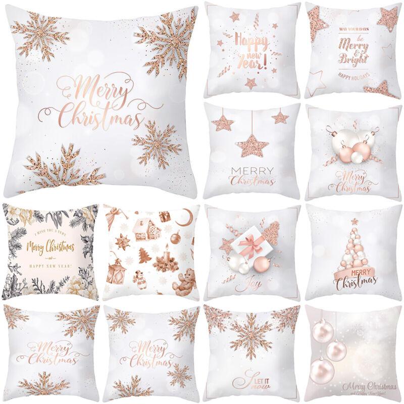 Fashion Rose Gold Pink Throw Cushion Cover Pillow Case Festi
