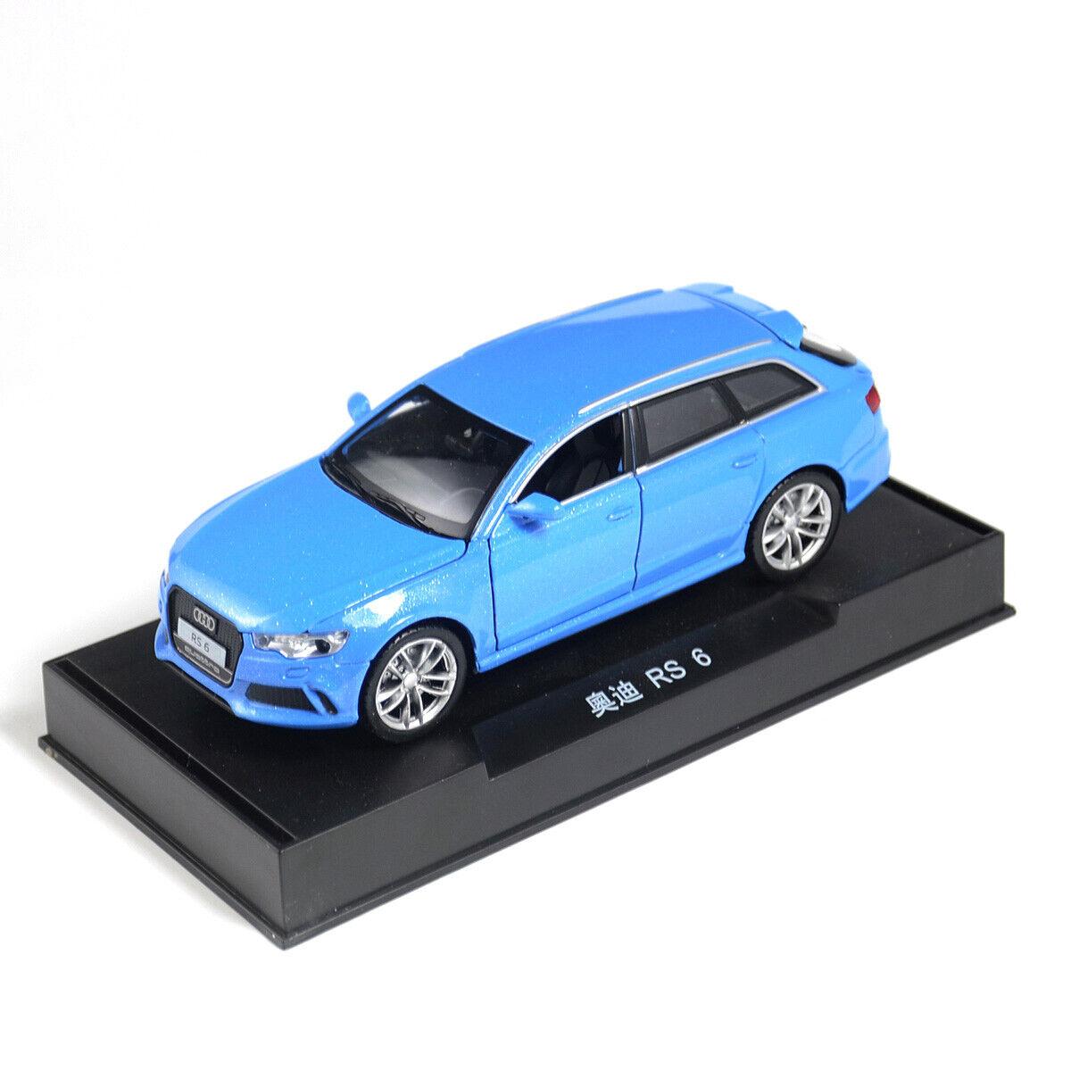 1 32 Audi Rs6 Quattro Metall Die Cast Modellauto Auto Spielzeug Blau