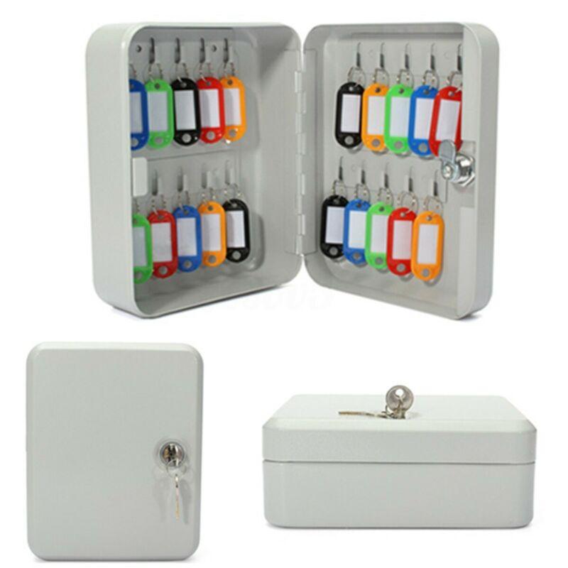 20 Key Hook Organizer Cabinet Storage Wall Mount Lock Box Security Safe