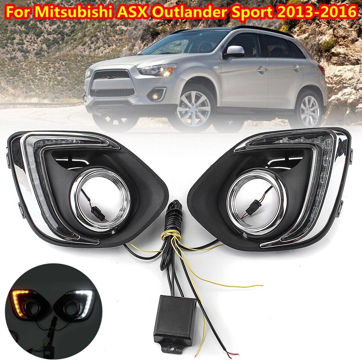 For 2013 2014 2015 Mitsubishi ASX Outlander Sport LED Daytime DRL Light Fog Lamp