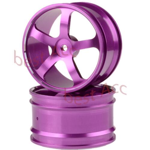 "Off-Road Buggy 12mm Hub D=62mm W=36mm Metal 2× 205R Rear 2.2/"" Wheel Rim RC 1//10"
