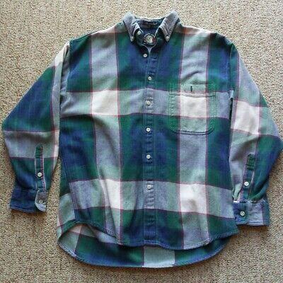 Gant SALTY DOG Mountain Twill Plaid Button Down Flannel Shirt Mens M  ()