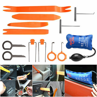 Plastic Exterior Trim - Car Panel Removal Open Pry Tools Kit Dash Door Radio Trim PDR Pump Wedge 13pc
