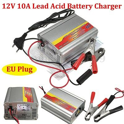 (12V 10A Intelligent 3 Stage Car Motorcycle Battery Charger Maintainer Lead Acid)