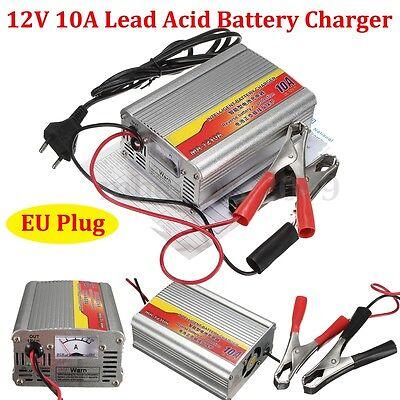 12v 50ah 105ah 10a car battery charger battery charger lead acid charger eu plug new for sale. Black Bedroom Furniture Sets. Home Design Ideas