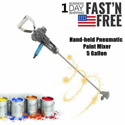 Pneumatic Handheld Paint Mixer Stainless Steel Impeller Coating Stirrer 5 Gallon