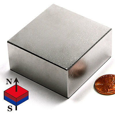 Cms Magnetics Ultra Strong N52 Neodymium Block Magnet 2x 2x 1 - 1 Piece
