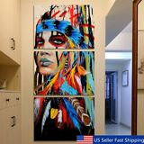 3Pcs/Set Indian Woman Abstract Canvas Print Art Painting Picture Home Wall Decor