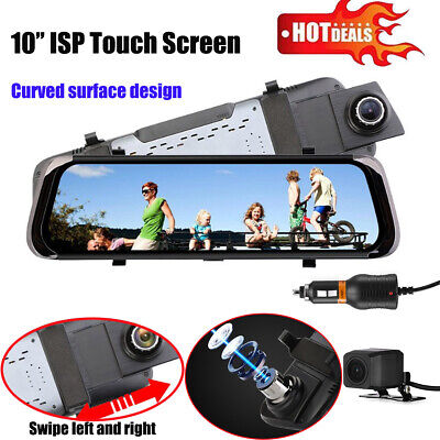 "10"" HD 1080P Dual Lens Touch Screen Car DVR Dash Cam Recorder+Rear View Camera K"