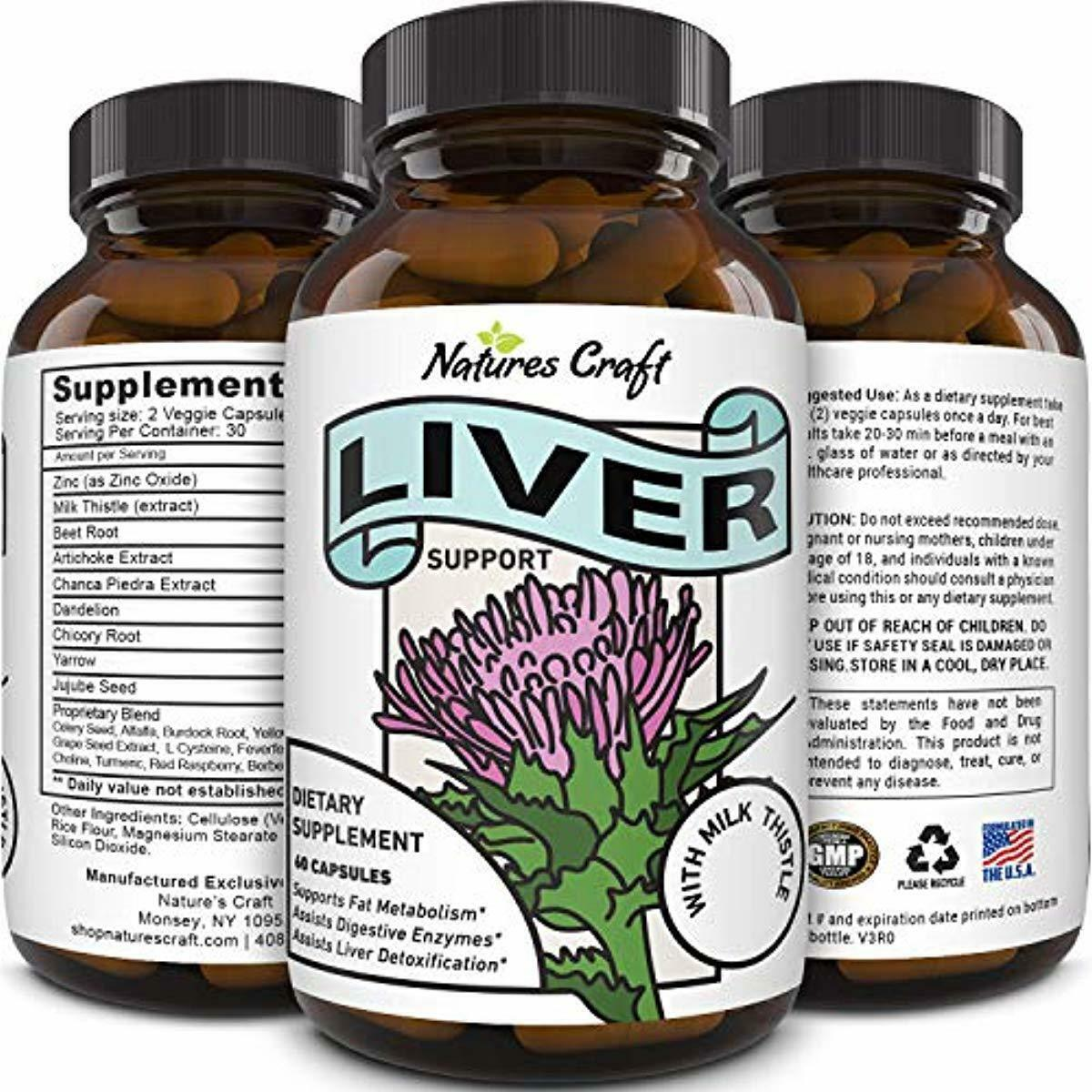 Natures Craft's Best Liver Cleanse Detox Support Supplement