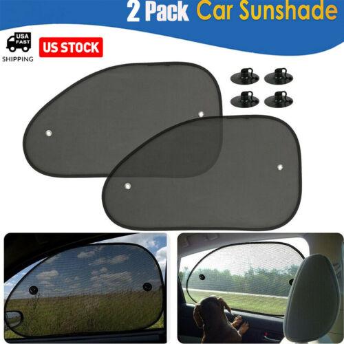2PCS Car Side Rear Window Screen Sun Shade Mesh Cover Windshield Sunshade Visor