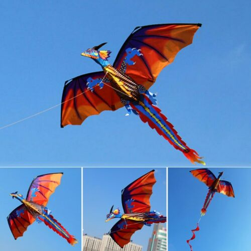 3D Dragon Single Line Kite For Adult Kids Classical Sports Outdoor Easy To Fly Kites