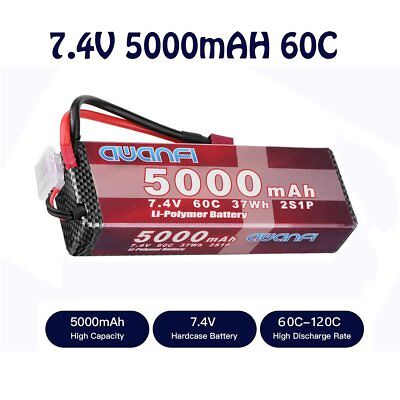 AWANFI 7.4V 5000mAh 60C 2S LiPo Battery for RC Car Truck Boat Drone Helicopter