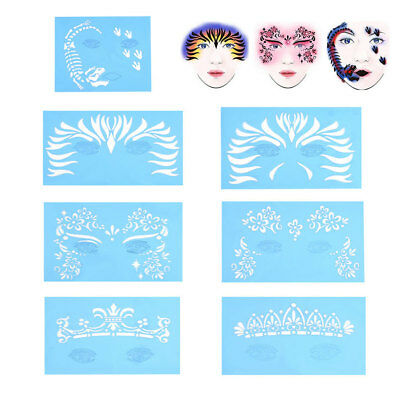 Reusable Face Paint Stencil Body Facial Template Tattoo DIY Design Painting - Face Paint Diy
